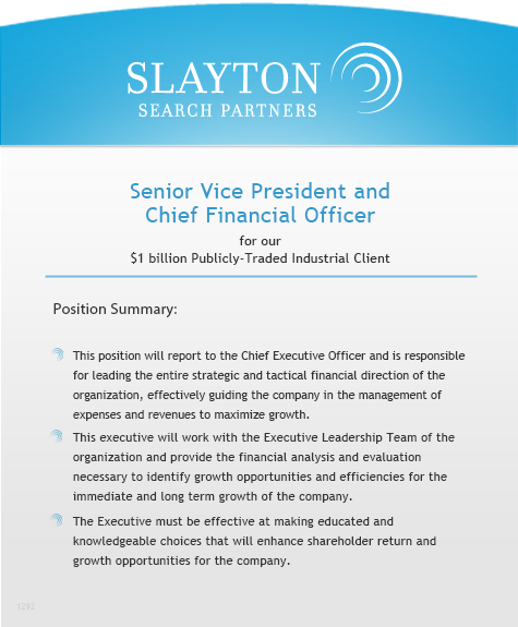 Senior Vice President and CFO