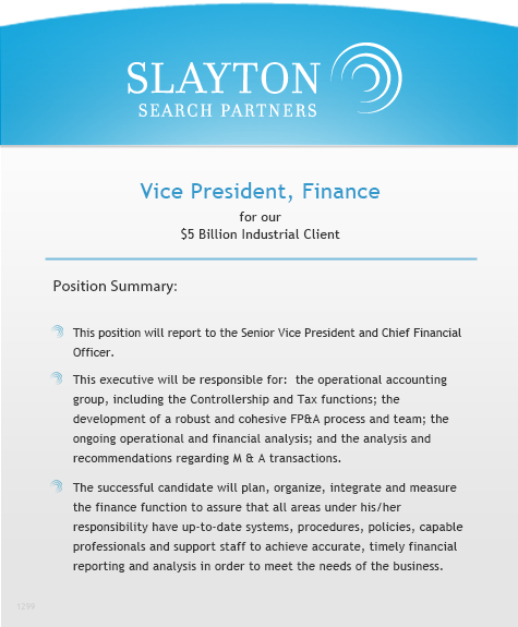 Vice President, Finance