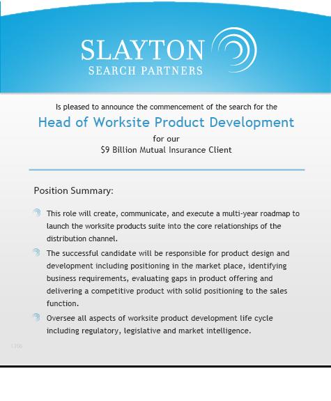 Head of Worksite Product Development