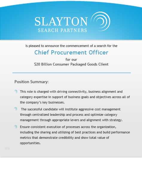 Chief Procurement Officer