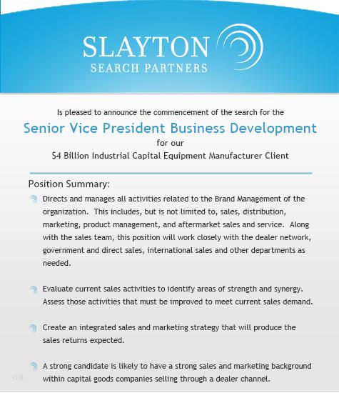 Senior Vice President Business Development