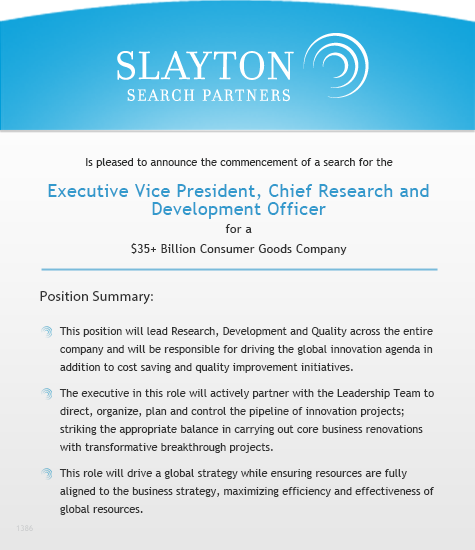 Executive Vice President, Chief Research and Development Officer