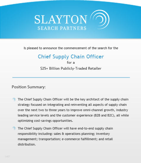 Chief Supply Chain Officer