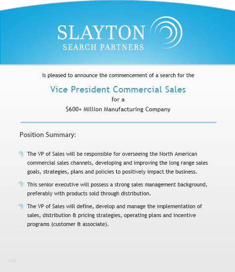 Vice President Commercial Sales