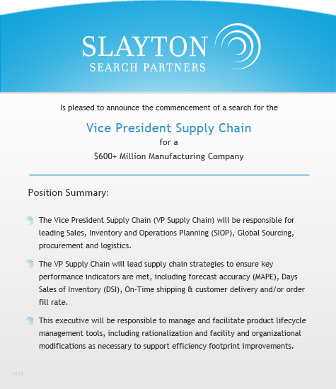 Vice President Supply Chain