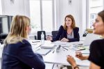 3 businesswomen working together